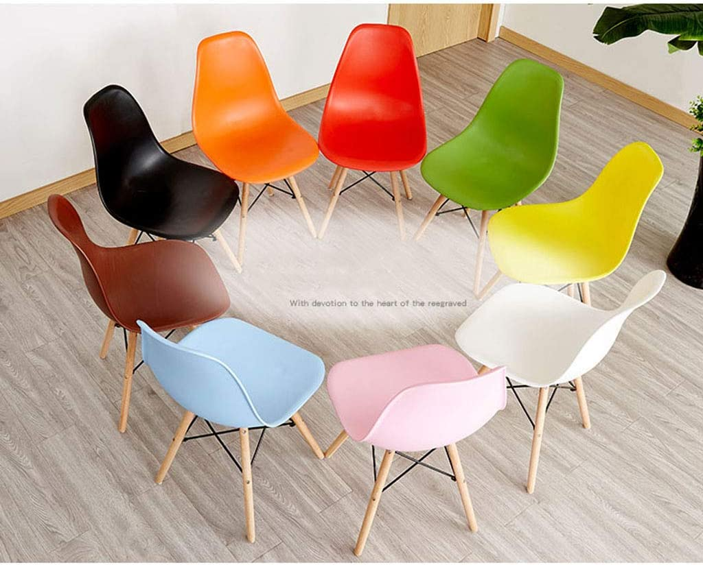PAN Chaise de Salle à Manger de Style Moderne avec accoudoirs de Style Moderne avec accoudoirs et Pieds en hêtre Massif (Couleur : Brown) Noir