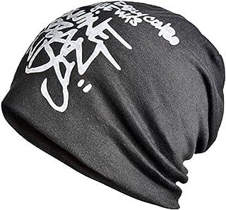 39a242673f3f2 Panegy Bonnets Garçon Homme Baggy Mince Hip Hop Soft Stretch Tricot Style  Simple Mode Barbouillage Lettre