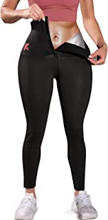 KUMAYES Sauna Leggings for Women Sweat Pants High Waist Compression Slimming Hot Thermo Workout Training Capris Body Shaper