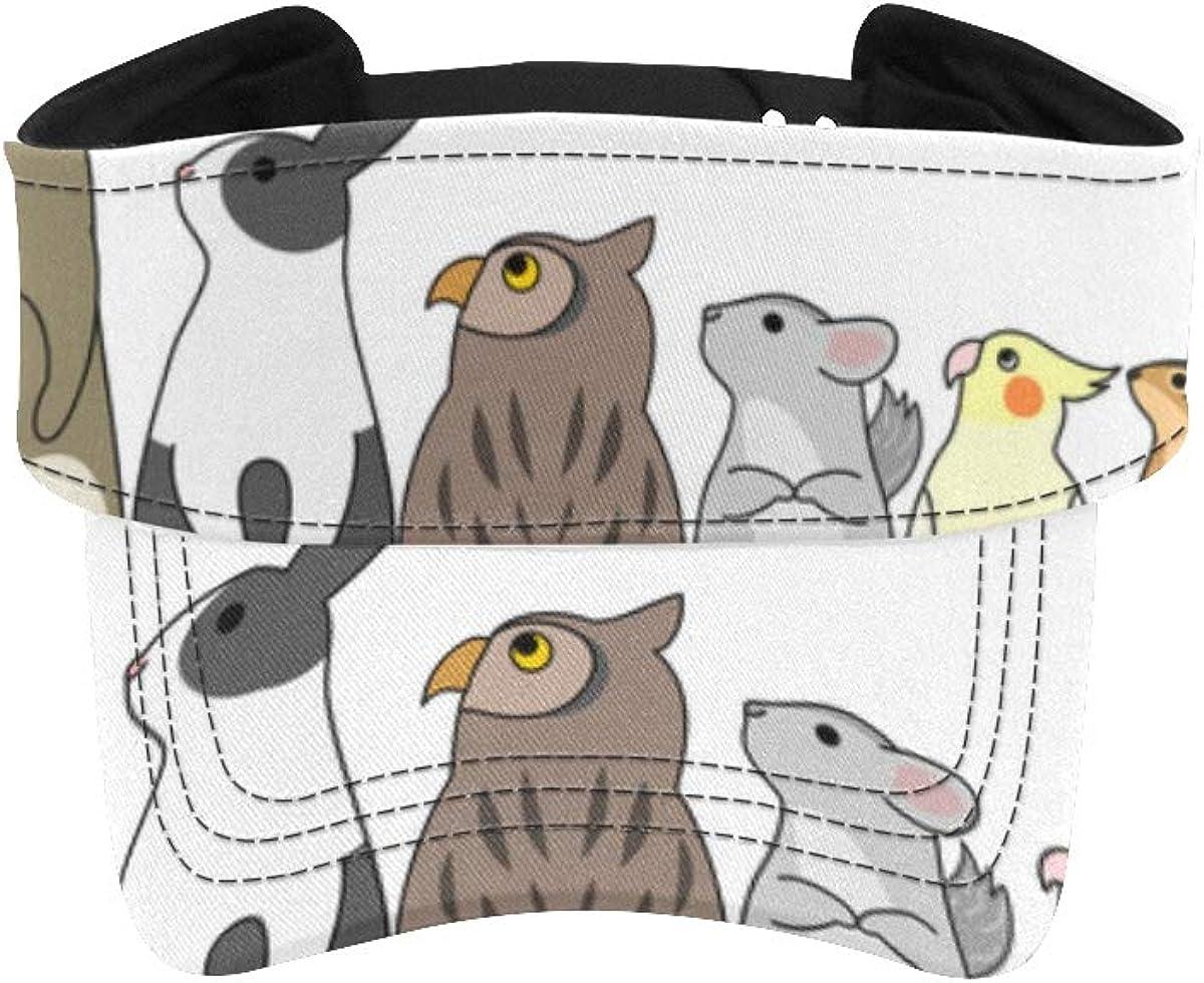 Visor Sun Cap Cute Woodland gift Animals Overseas parallel import regular item Hats Group Men Ru for Visors