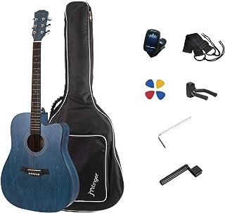 JMFinger Full Size 41 Inch Cutaway Acoustic Guitar for Beginners with Bag, Tuner, Strap, Picks, Guitar Hanger,String Winde...