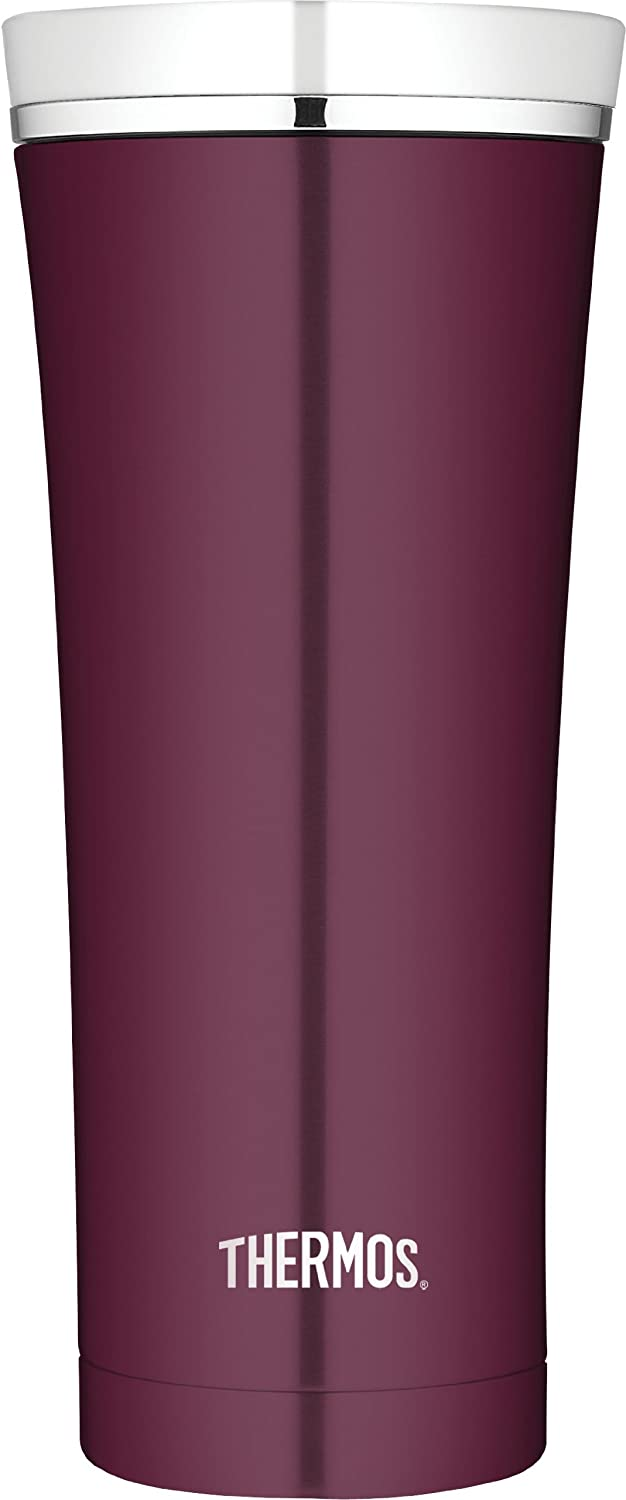 Thermos 16 Ounce Vacuum Insulated Travel Tumbler, Burgundy
