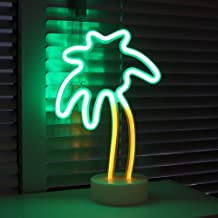 (Palm Tree With Holder) - DELICORE Coconut Palm tree Neon Signs, LED Neon Light Sign with Holder Base For Party Supplies T...