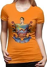 ShanqupU Danny Gonzalez Women's Fashion Short Sleeve T-Shirt Orange