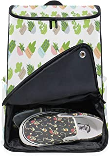 DEZIRO Mochila para ordenador portátil con patrón de plantas de carne, para mujer y hombre, colegio universitario, mochila de negocios