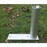 FFfeily Umbrella Holder Ground Garden Grass Umbrella Anchor for Pole Diameter Below 3cm/1.18inch Silver Aluminum Alloy Patio Umbrella Stand Stake