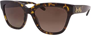 Coach Woman Sunglasses, Tortoise Lenses Acetate Frame, 55mm