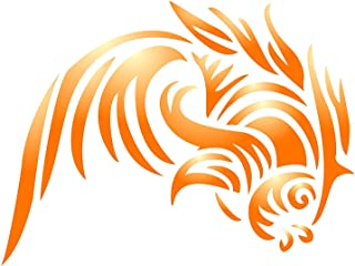 Fisch Tribal Tattoo Schablone 6 x 4,5 Zoll (M) - Asiatisch O