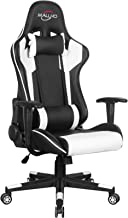 Polar Aurora Gaming Chair Racing Style High-Back PU Leather Office Chair Computer Desk Chair Executive Ergonomic Swivel Ch...