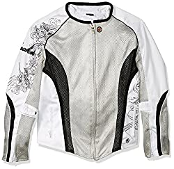 """Joe Rocket Cleo 2.2 Womens Mesh Jacket (Silver/White/Black, Large)"""