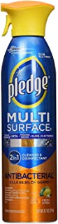 Pledge Multi Surface Antibacterial Cleaner Antibacterial Citrus Scent Aerosol Can 9.7 Oz (3 case(9.7 Oz))