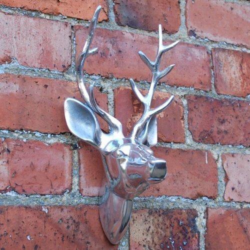Tête de cerf - Rudy bébé mural en aluminium montées tête de cerf