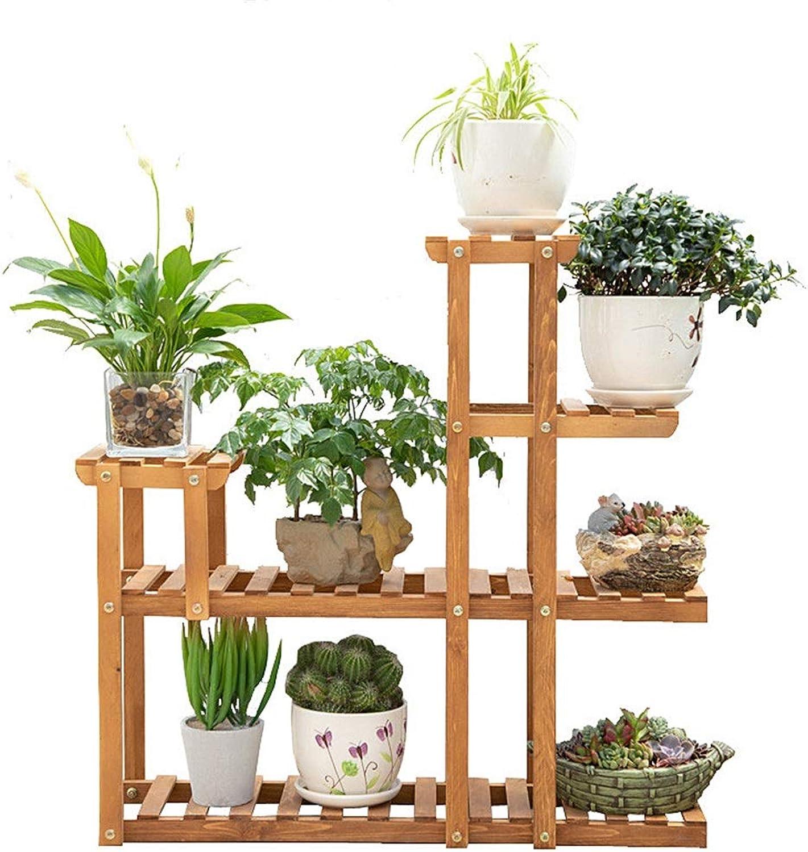 Solid Wood Flower Stand Balcony Multi-Storey Floor Rack Indoor Fleshy Flower Stand