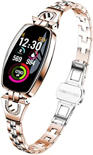 Exquisite Smart Watch, Fitness Tracker with Blood Pressure/Heart Rate/Sleep Monitor for Women (H8 Gold)
