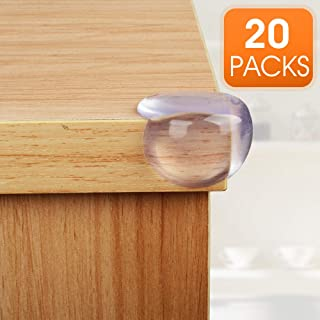 Clear Corner Protectors 20 Pack,Baby Proofing Table Corner Guards,Protectors for Child Safety and Furniture Against Sharp Corners