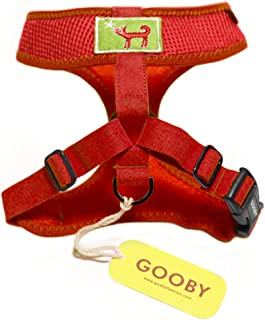 Gooby Choke Free Freedom Harness for Small Dogs, Medium, Red