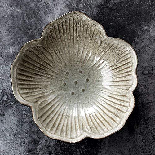 Fête des Enfants de la Vaisselle Pétales en Forme de céramique Bowl Jeu de Hôtel Restaurant Party Personnalité Arts de la Table for la Salade Soupe de Fruits Rouges (Couleur: Rouge) (Color : White)