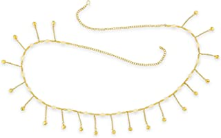 ACCESSHER Gold Color Copper Material Gold and Pearls Kamarband