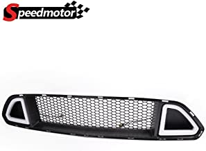 For 2015 2016 2017 Ford Mustang Front Hood Upper Grille White DRL LED With Turn Signal