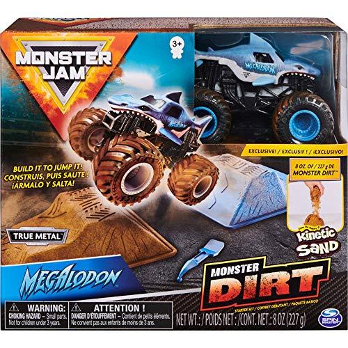Monster Jam Monster Dirt - Starterset, mit 226 g Monster Dirt und Monster Jam Truck im Maßstab 1:64 (Sortierung mit verschiedenen Designs)