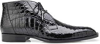 e4f65fef8 Belvedere Stefano Black Genuine Alligator Ankle Boot