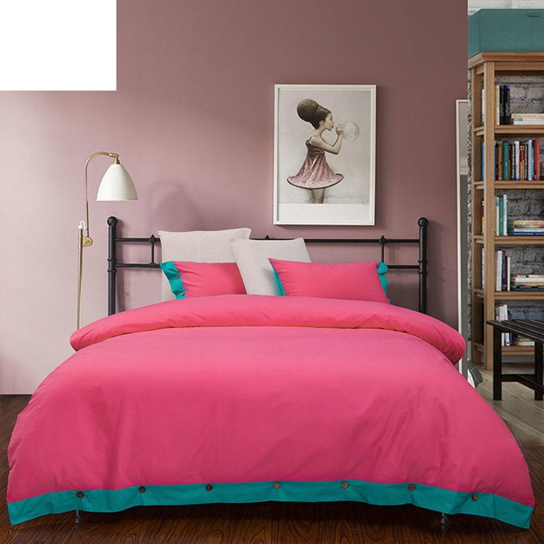 Bedding article cotton quilt cover Cotton Plain coloured duvet cover simple quilt cover-A 200x230cm(79x91inch)