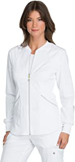 Luxe Sport Women's Zip Front Warm-up Scrub Jacket