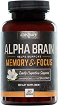 ONNIT Alpha Brain (90ct) - Over 1 Million Bottles Sold - Nootropic Brain Booster Supplement - Promotes Focus, Concentration & Memory - Alpha GPC, L Theanine, Bacopa Monnieri, Huperzine A & Vitamin B6