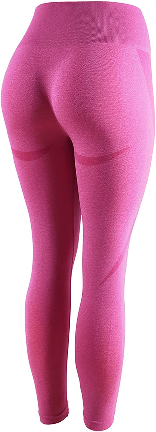 Yoga Pants for Women, Women's Pure Color Hip-Lifting Sports Fitness Running High-Waist Yoga Pants
