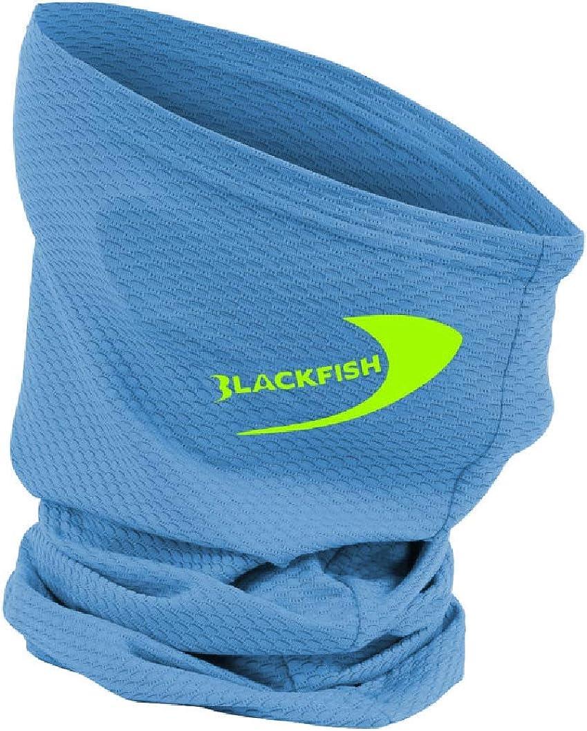 BLACKFISH UPF Angler Neck Gaiter Bright Blue Neon Green