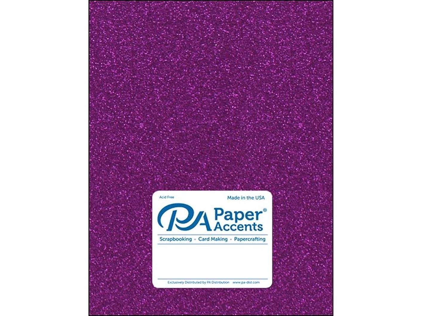 Paper Accents 85lb 5pc Cdstk Glitter 8.5x11 Purple