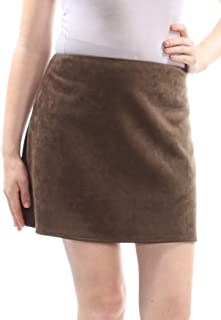 FRENCH CONNECTION Womens Brown Faux Suede Mini Skirt US Size: 10
