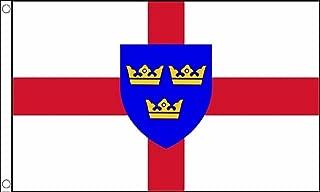East Anglia Region England Flag 5'x3' (150cm x 90cm) - Woven Polyester