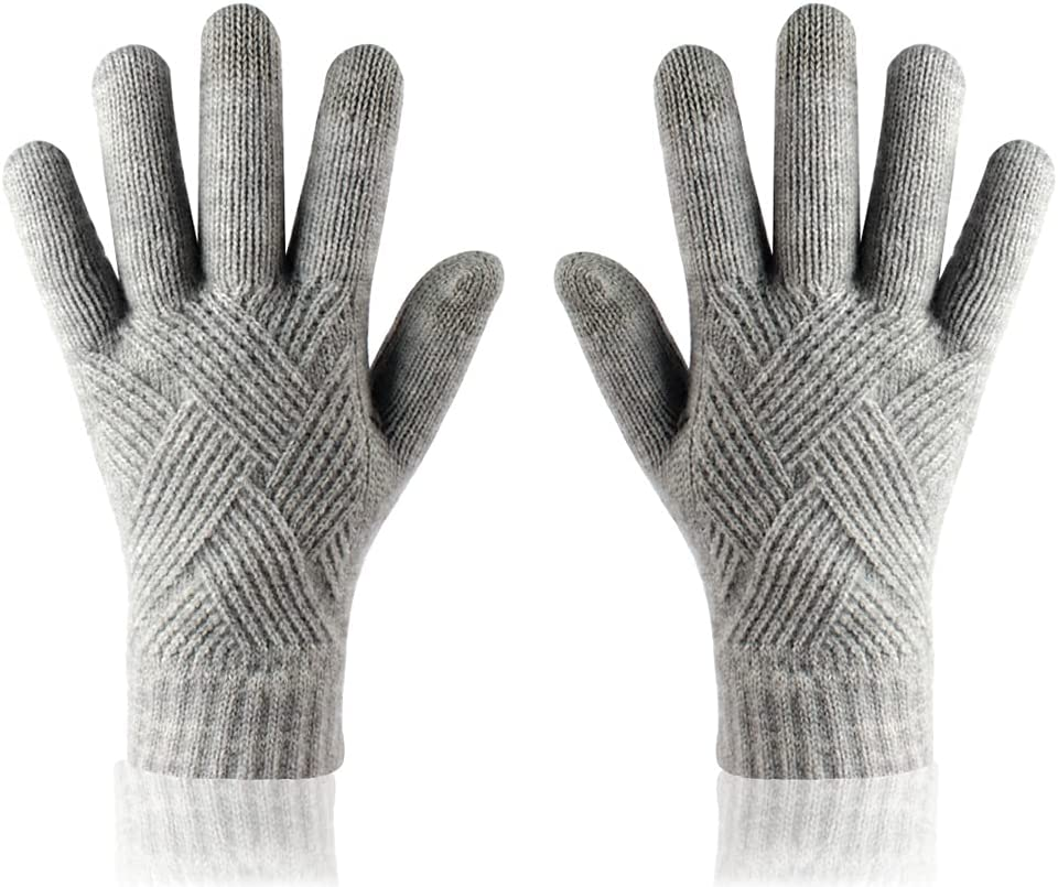 ADSVMEL Winter Glove Touch Screen Gloves Anti-Slip Warm Knitted Gloves Running Driving Glove Knit Touchscreen Thermal Cuff Snow Driving Gloves for Men and Women Autumn Glove