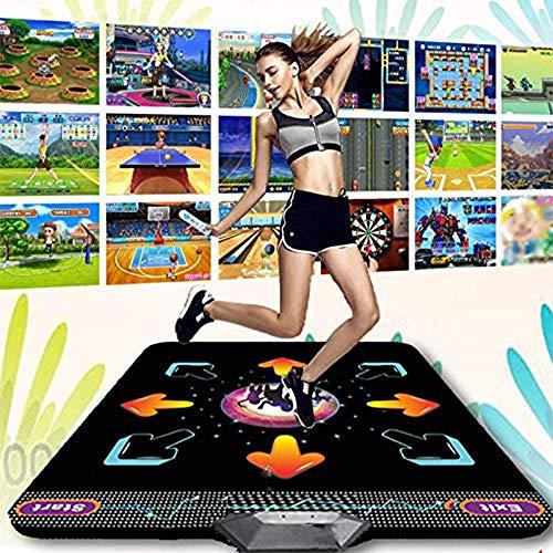 SMAA Non-Slip-Tanz-Matten, 3D-Wireless-Spiel-Matte Yoga Somatosensory Spiel-Maschine, mit Hunderten von Spielen Wireless Host Wireless Controller, Geeignet für Home Entertainment,Night