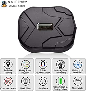 QILade Yzcing GPS Tracker-3G Real Time Vehiche Tracking Device Anti-Lost for Car Motorcycle Truck Strong Magnet Monitoring Waterproof Geo-Fence Remove Alarm Free Web APP