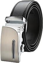 Men Belt Genuine Leather Belt Ratchet Black Dress Belts For Men With Automatic Buckle Fashion (Size : XXL)