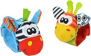 Mine Tom, Minetom 2SET brillante bebé infantil Kids Lamaze suave muñeca calcetines del pie del juguete buscador Rattle Manos alza Correa de muñeca A Una Talla