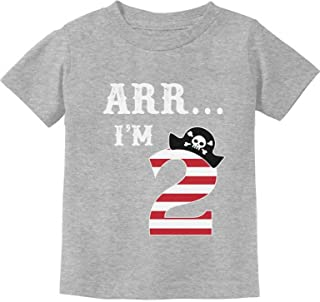 ARR I'm 2 Pirate Birthday Party Gift Two Year Old Toddler/Infant Kids T-Shirt