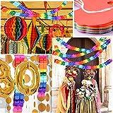 BETESSIN 4 STK Bunt Girlande Papier Deko Party Geburtstag Hochzeit Karneval Fasching Geburtstagsgirlande Partygirlanden - 3