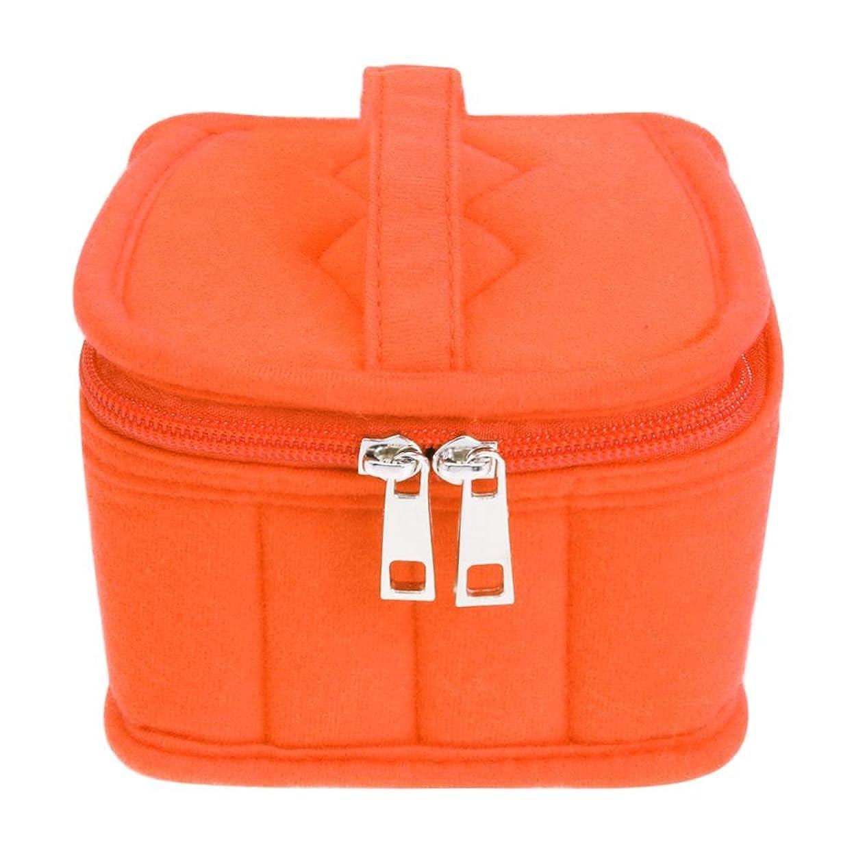 しばしばジョセフバンクス重量Demiawaking 16本用 エッセンシャルオイル収納ケース 携帯用化粧バッグ アロマケース 精油 ボックス アロマオイルポーチ 精油 ケース ミニボトルケース 耐震 ふわふわ(ぶら下がりタグなし)15ML オレンジ