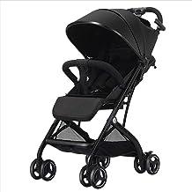 YLLXX Cochecito de bebé -Alta Paisaje Puede Sentarse, acostarse, Plegable, Portable aleación de Aluminio Ultra-Light Silla de Paseo adecuados para los recién Nacidos de 0-3