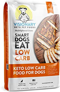 Visionary Pet - Keto Dog Food   Low Carb Kibble   High Protein   Natural Chicken Flavor   Grain Free Dry Dog Food with Nat...