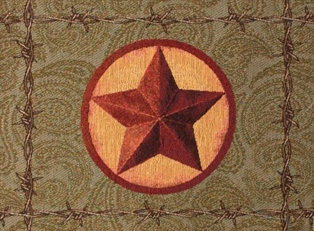 Manual Western Star Collection Tapestry Placemat With Backing 18 X 12 5 Inch