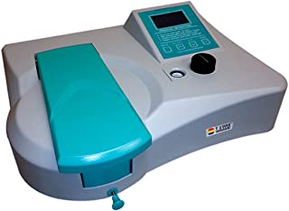 Laxco Alpha-1506 UV//Vis Spectrophotometer Halogen and Deuterium Lamp 85//240VAC 4nm Spectral Bandwidth 190 to 1100nm Wavelength Range