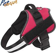 PetVogue Dog Harness, No-Pull Reflective Breathable Adjustable Pet Vest with Handle for Outdoor Walking - No More Pulling, Tugging or Choking- Medium(Colour May Vary)