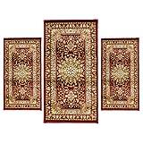 Juego de alfombra + alfombras de cama, 3piezas, Obama art. Artemis P482