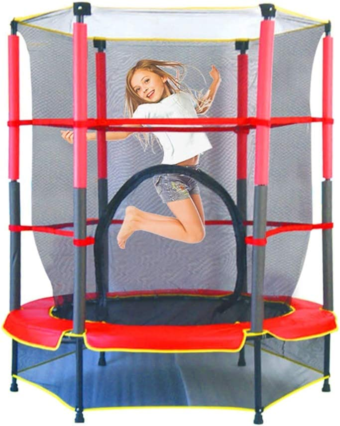Children's Trampoline with Choice Safety Enclosure Fitness Max 58% OFF Home Ind Net