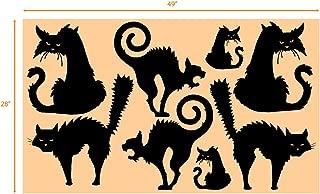 Best black cat silhouette stencil Reviews