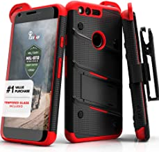 ZIZO Bolt Series Google Pixel XL w/ [Screen Protector] Kickstand [12 ft. Military Grade Drop Tested] Holster Clip (Black/Red)
